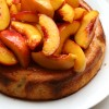 Yoghurt and Almond Cake with Orange Caramel Peaches