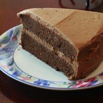 Chocolate Cake with Milk Chocolate and Caramel Frosting