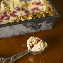 Guest Post / Roasted Strawberry Crumble Ice Cream