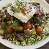 Simple Dinners 05 / Grilled Vegetable Salad with Feta and Tabbouleh