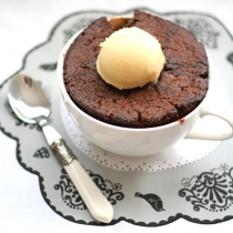 Chocolate Chestnut Self Saucing Puddings