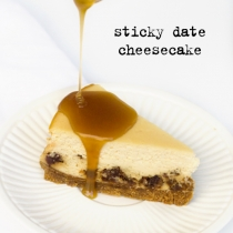 Sticky Date Cheesecake with Bourbon Caramel Sauce