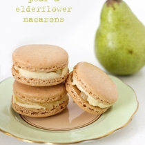 Pear and Elderflower Macarons
