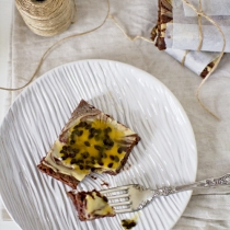 Passionfruit Cheesecake Brownies