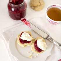 Vanilla Bean Glazed Scones with Rhubarb and Gin Jam + 13 Ways with Rhubarb!