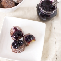 Blueberry Jam Doughnuts with Lavender Sugar + 13 Ways with Lavender!