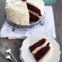 Chocolate Red Velvet Cake, and a Book Review