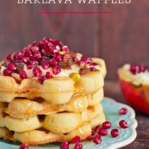 Baklava Waffles (Gluten Free)