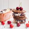 Roasted Cherry Ice Cream Sandwiches (No Churn!)