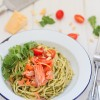 Simple Dinners 15 / Kale Pesto Spaghetti with Ocean Trout