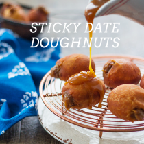 Sticky Date Doughnuts with Salted Caramel Sauce