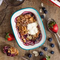 Healthy Recipe - Berry, Coconut & Quinoa Crumble