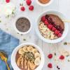 Warm Chocolate Chia Porridge Two Ways