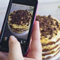 Chocolate Chip & Passionfruit 'Naked' Cake