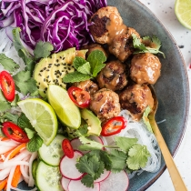 Simple Dinners 22 / Pork Meatball Banh Mi Salad Bowls