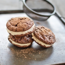 Brownie Cookies with Maple Bourbon Buttercream