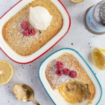 French Earl Grey Lemon Delicious Pudding